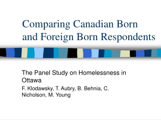 Research findings   homelessness in Poland