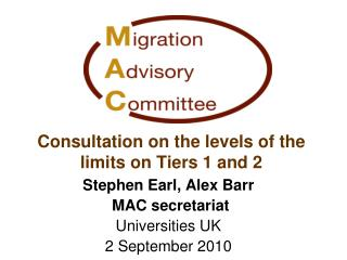 Consultation on the levels of the limits on Tiers 1 and 2