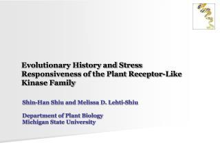 Evolutionary History and Stress Responsiveness of the Plant Receptor-Like Kinase Family