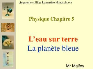 Physique Chapitre 5