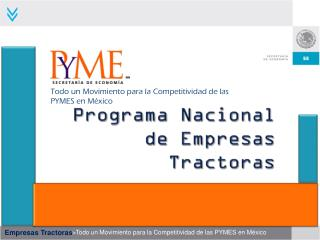 Programa Nacional de Empresas Tractoras