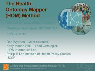 The Health Ontology Mapper (HOM) Method