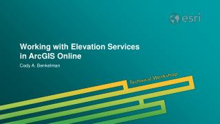 Working with Elevation Services in ArcGIS Online