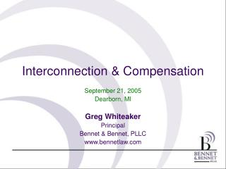 Interconnection & Compensation