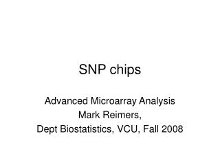 SNP chips