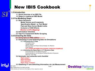 New IBIS Cookbook
