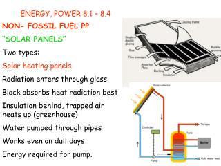 ENERGY, POWER 8.1 � 8.4