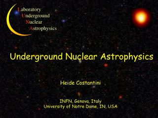 Underground Nuclear Astrophysics