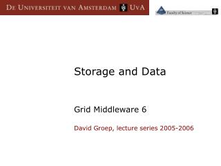 Storage and Data