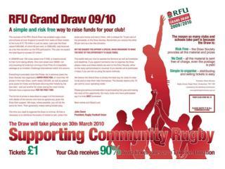 RFU Grand Draw 2009/2010