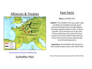 Alliances & Treaties Schlieffen Plan