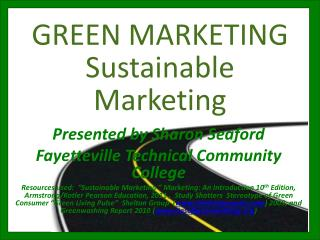 GREEN MARKETING Sustainable Marketing