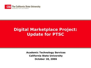 Digital Marketplace Project: Update for PTSC