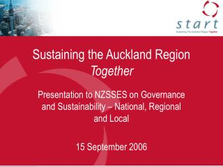 Sustaining the Auckland Region  Together