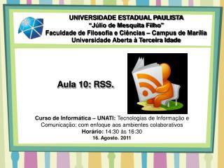 Aula 10: RSS.