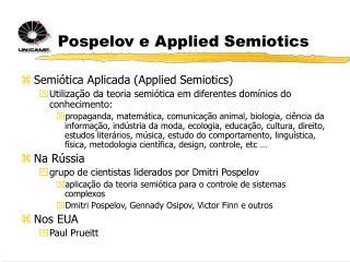 Pospelov e Applied Semiotics