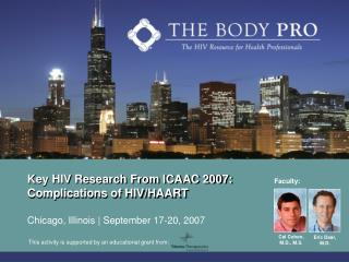Key HIV Research From ICAAC 2007: Complications of HIV/HAART