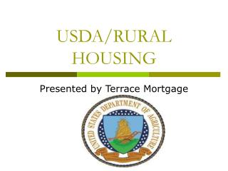 USDA/RURAL HOUSING