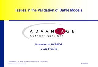 Issues in the Validation of Battle Models