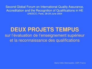 Marie-Odile Ottenwaelter , CIEP, France