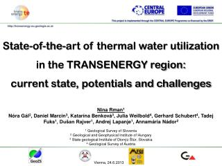 State-of - the - art of thermal water utilization  in the TRANSENERGY region: