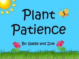 Plant Patience