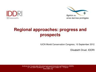 Regional approaches: progress and prospects