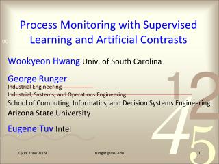 Process Monitoring with Supervised Learning and Artificial Contrasts