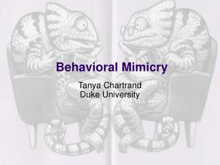 Behavioral Mimicry