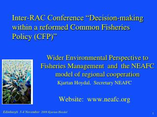 "Inter-RAC Conference ""Decision-making within a reformed Common Fisheries Policy (CFP)"""