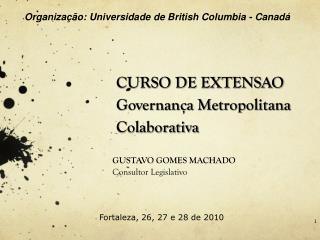 CURSO DE EXTENSAO Governança Metropolitana Colaborativa A