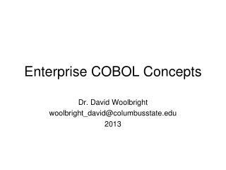 Enterprise COBOL Concepts
