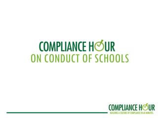 ON CONDUCT OF SCHOOLS