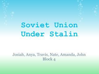 Soviet Union Under Stalin