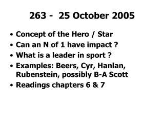 263 -  25 October 2005