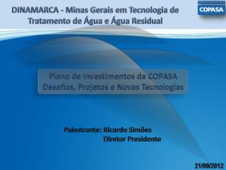 DINAMARCA - Minas Gerais em Tecnologia de Tratamento de Água e Água Residual