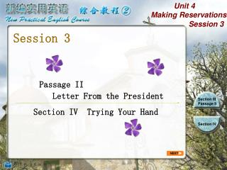 Passage II         Letter From the President