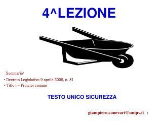 4^LEZIONE