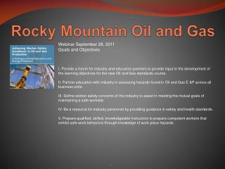 Rocky Mountain Oil and Gas