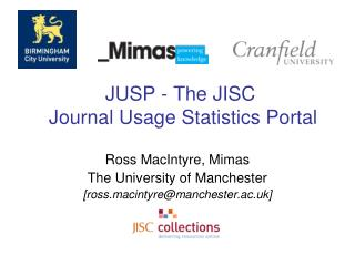JUSP - The JISC  Journal Usage Statistics Portal