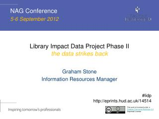 Library Impact Data Project Phase II the data strikes back
