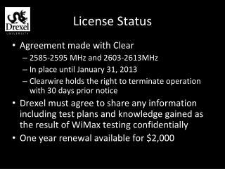 License Status