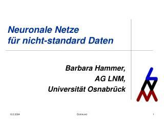 Neuronale Netze  f�r nicht-standard Daten