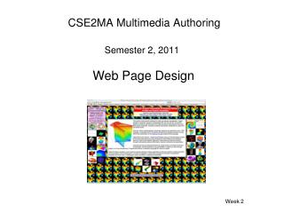 CSE2MA Multimedia Authoring