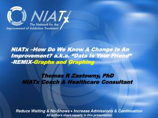 NIATx �How Do We Know A Change Is An Improvement? a.k.a. �Data Is Your Friend�