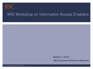WIS Workshop on Information Access Enablers