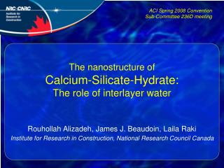 The nanostructure of Calcium-Silicate-Hydrate:  The role of interlayer water