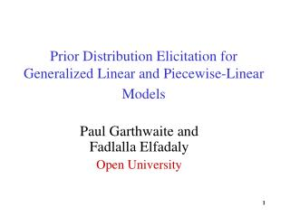 Prior Distribution Elicitation for Generalized Linear and Piecewise-Linear Models