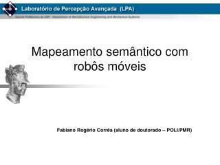 Mapeamento semântico com robôs móveis