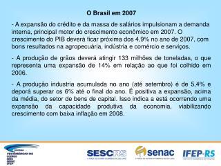 O Brasil em 2007
